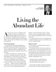 Living the Abundant Life - The Church of Jesus Christ of Latter-day ...