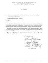 21. Februar 2013 An: alle Generalautoritäten, Gebietssiebziger ...