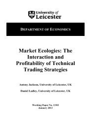 Market Ecologies - University of Leicester