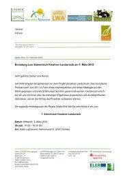 Einladung zum Stammtisch Kreativer Landurlaub am 7. März 2012