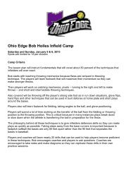 Ohio Edge Bob Hoiles Infield Camp - LeagueLineup.com
