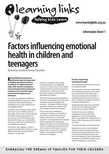 the factors influencing children Risk factors are those characteristics associated with child maltreatment and abuse, they may or may not be direct causes.