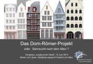 Das Dom-Römer-Projekt - Lebendige Stadt
