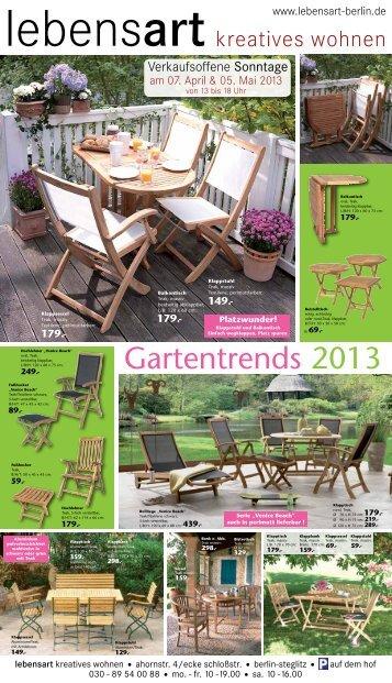 Gartentrends 2013 - lebensart kreatives Wohnen