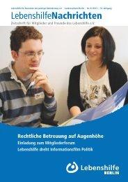 PDF Dokument Download - Ausgabe 1/2013 - Lebenshilfe Berlin