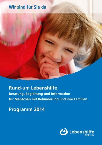 das vollständige Programm 2014 der ... - Lebenshilfe Berlin