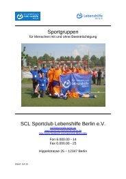 Sportprogramm - Lebenshilfe Berlin