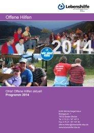 Jahresprogramm 2014 - Lebenshilfe der Region Baden-Baden ...