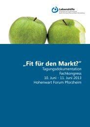 """""""Fit für den Markt?"""" - Lebenshilfe Baden-Württemberg"""