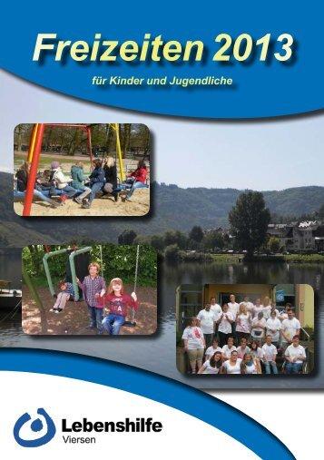 Freizeiten 2013 - Lebenshilfe Viersen eV