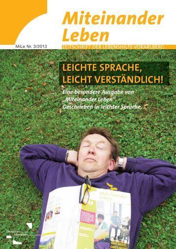 leichte sprache, leicht verständlich! - Lebenshilfe Vorarlberg