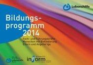 Bildungs- programm 2014 - Lebenshilfe Landesverband Hessen eV
