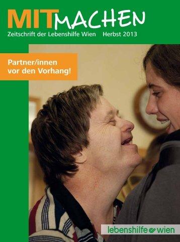Partner/innen vor den Vorhang! - Lebenshilfe Wien