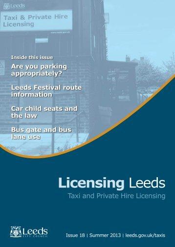 Licensing Leeds Newsletter: 18 - Leeds City Council