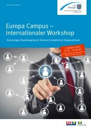 Europa Campus – Internationaler Workshop - leg-thueringen.de