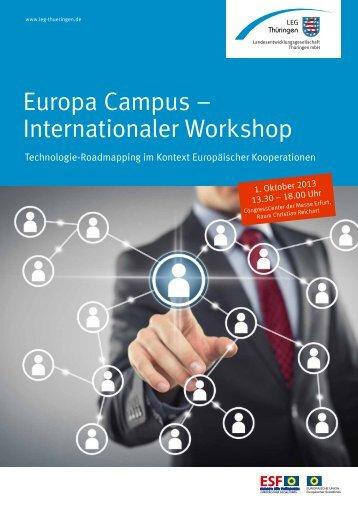 Europa Campus – Internationaler Workshop - leg-thueringen.de