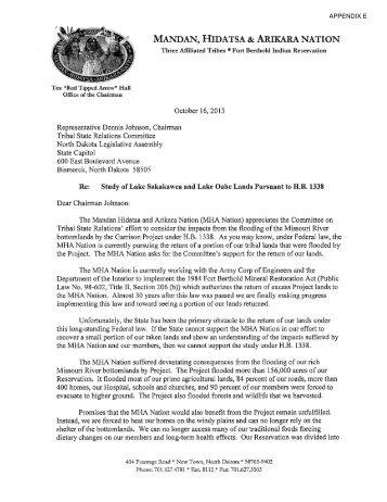 Appendix E - North Dakota Legislative Branch