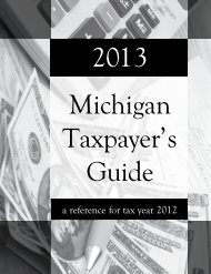 a reference for tax year 2012 - Michigan Legislature - State of ...