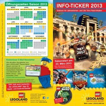 INFO-TICKER 2013 - Legoland