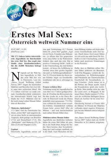 Erstes Mal Sex: - Lehrer.at