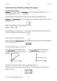 Kinematik geradliniger Bewegungen - Lehrer-Uni-Karlsruhe RAI