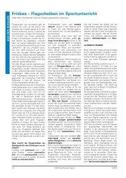 Frisbee – Flugscheiben im Sportunterricht - Lehrer.uni-karlsruhe.de