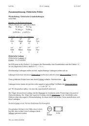 Zusammenfassung: Elektrische Felder - Lehrer-Uni-Karlsruhe RAI