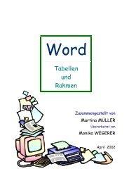Tabellen und Rahmen - Lehrerweb