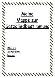 Meine Mappe zur Satzgliedbestimmung - Lehrerweb