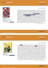 Literaturempfehlungen Grundschule ... - Lehrerweb.at