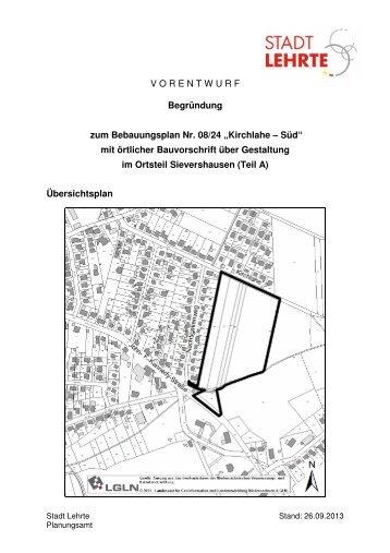 VORENTWURF Begründung zum Bebauungsplan Nr ... - Stadt Lehrte