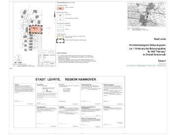 Vorhaben- und Erschließungsplan zum vorhabenbezogenen ...