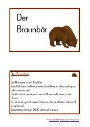 Der Braunbär - Lehrerweb