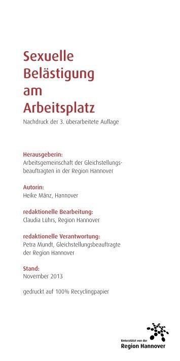 Sexuelle Belästigung am Arbeitsplatz - Stadt Lehrte