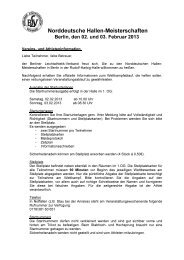 Vereins- und Athleteninfo - Berliner Leichtathletik-Verband eV