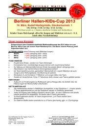 Berliner Hallen-KIDs-Cup 2013 - Berliner Leichtathletik-Verband eV
