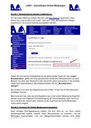 Schnellstart Online Meldungen - Berliner Leichtathletik-Verband eV