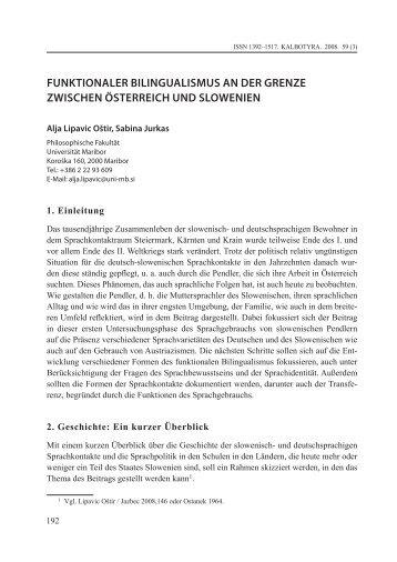 funktionaler bilingualismus an der grenze zwischen österreich und ...