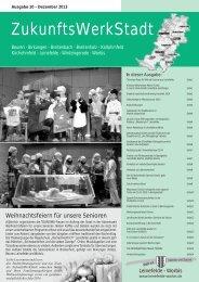 ZukunftsWerkStadt Ausgabe Dezember 2013 - Stadt Leinefelde ...