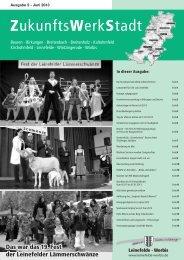 ZukunftsWerkStadt Ausgabe Juni 2013 - Stadt Leinefelde Worbis