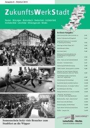 ZukunftsWerkStadt Ausgabe Oktober 2013 - Stadt Leinefelde Worbis