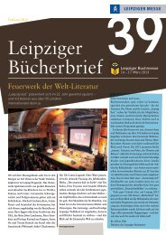 Download Bücherbrief Nr. 39 (PDF, 639,6 kB) - Leipziger Buchmesse