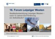 16. Forum Leipziger Westen
