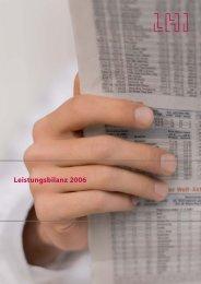 LHI Leistungsbilanz LHI - Leistungsbilanzportal