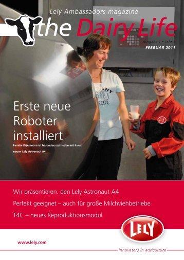 Erste neue Roboter installiert - Lely