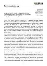 Lenzing Technik erhöht Drehzahl für AL-KO Engineeringspezialist ...