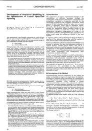 Development of Statistical Modelling in the Optimisation of ... - Lenzing