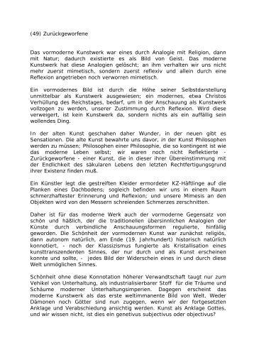 (49) Zurückgeworfene - Leo-dorner.net