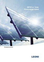 BETAflam® Solar Photovoltaik-Kabel - Leoni