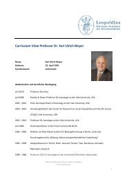 Curriculum Vitae Professor Dr. Karl Ulrich Mayer - Leopoldina